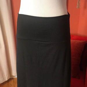 Side Slit Maxi Skirt Black